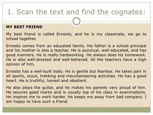 Essay about a friend