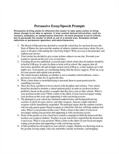 persuasive essay college examples
