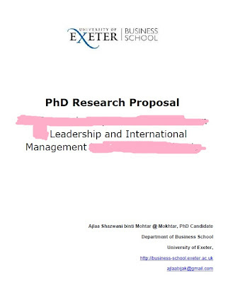 What is the research proposal for?