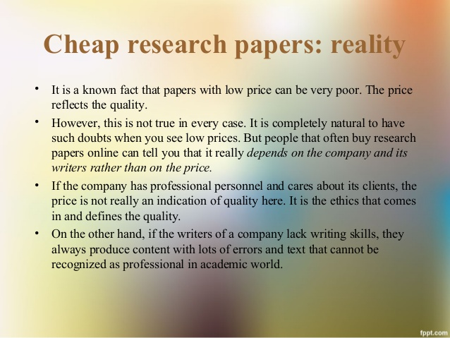 Cheap college term papers