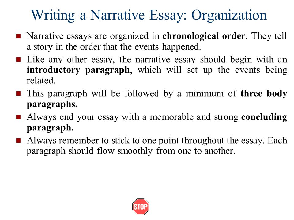 Essay written in chronological order