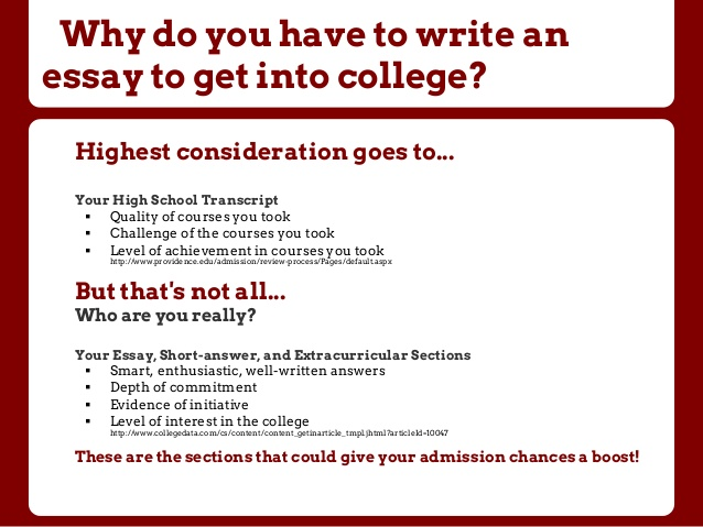 common application for college - Common App College Essay Examples