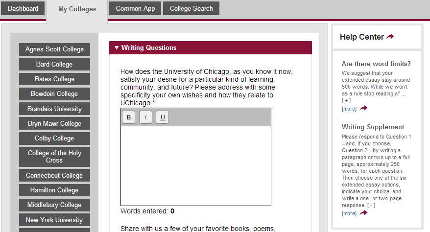 Common app essays