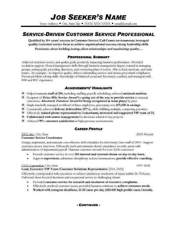 Essay in customer service