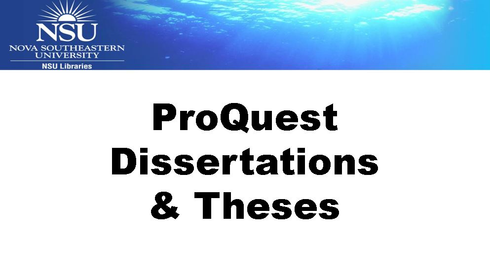 Dissertation abstracts proquest