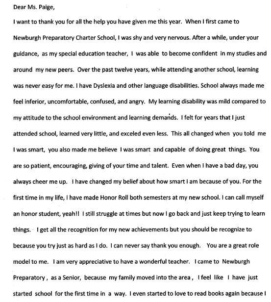Essay about your favorite teacher