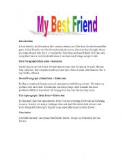 essay about your close friend