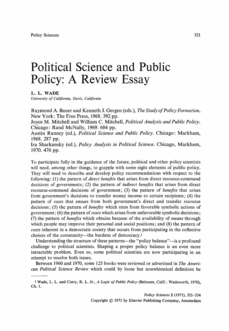 Essay of politics