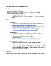 Do u write outline essay