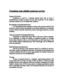 Customer service thesis