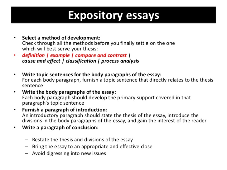 Expository essay writing college homework help and online tutoring