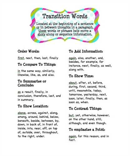 Transitional Key phrases