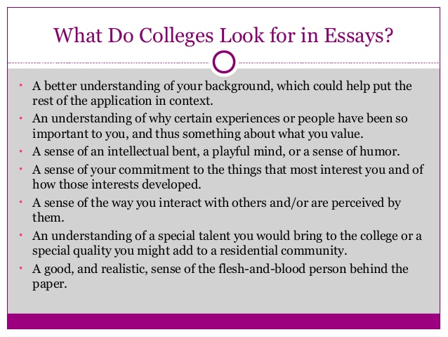 Great essay for college admission