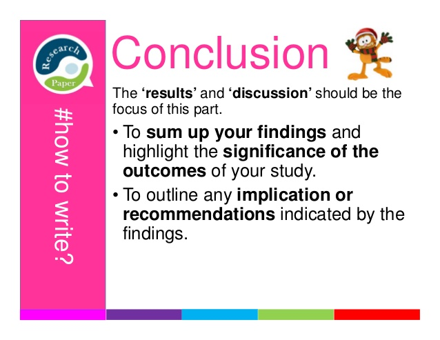 results and conclusion paper The second to last step in conducting a research study is to interpret the findings in the discussion section, draw conclusions, and make recommendations.