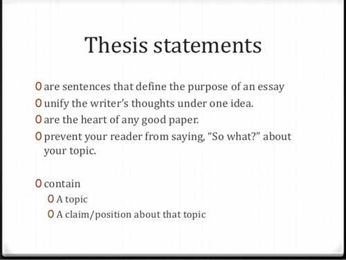 Help with thesis statements