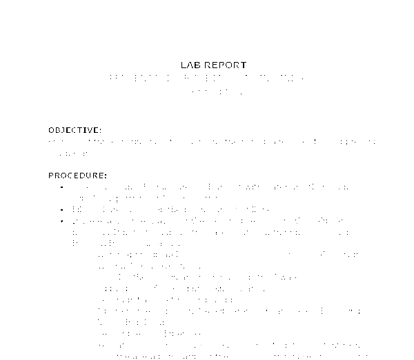 example of procedure in lab report