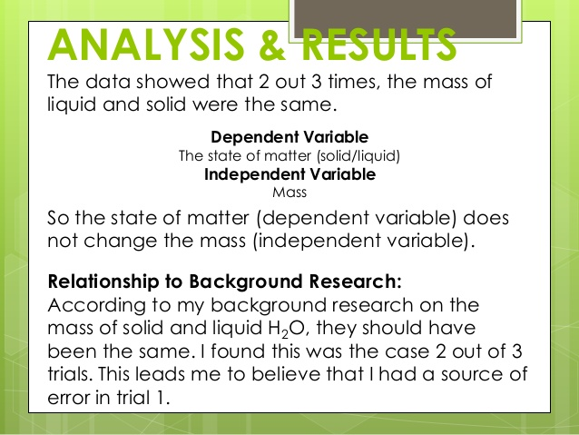 data analysis lab report example