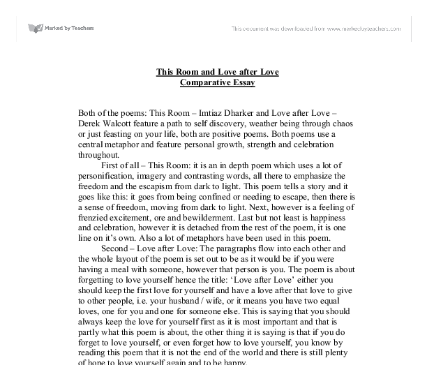 An essay on give love get love