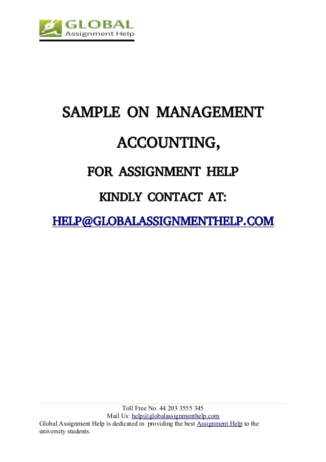 Assignment management accounting answer