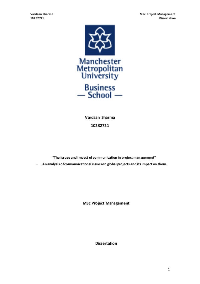Management dissertation