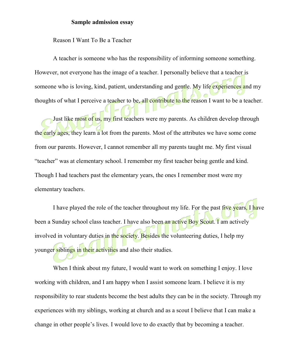 Example Of Student Narrative Essay