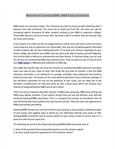 Admission essay custom writers mba