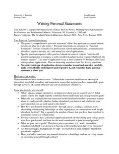 Online personal statement writing service