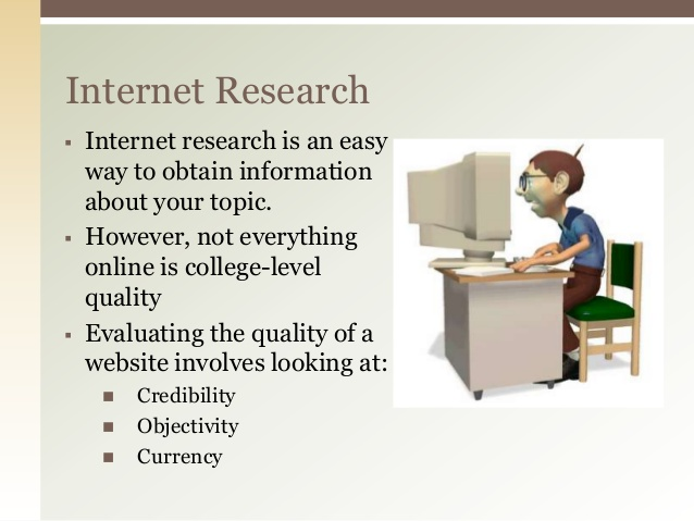 an essay on the credibility of information on the internet Some experts publish great information on the internet, but there's a lot of bad information out there as well the trick is to weed out the unreliable use a discerning eye when viewing these citations and apply the best practices of evaluating credible information (see evaluating sources for credibility.