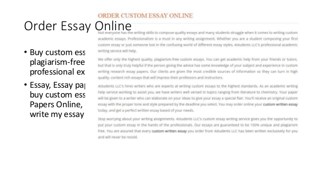 Buy a custom essay - The Best Essay Writing Service.