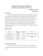 Organic chem lab report - College Homework Help and Online Tutoring