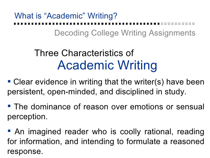 personal academic writing Academic writing is devoted to topics and questions that are of interest to the academic community when you write an academic paper, you must first try to find a topic or a question that is relevant and appropriate - not only to you, but to the academic community of which you are now a part.