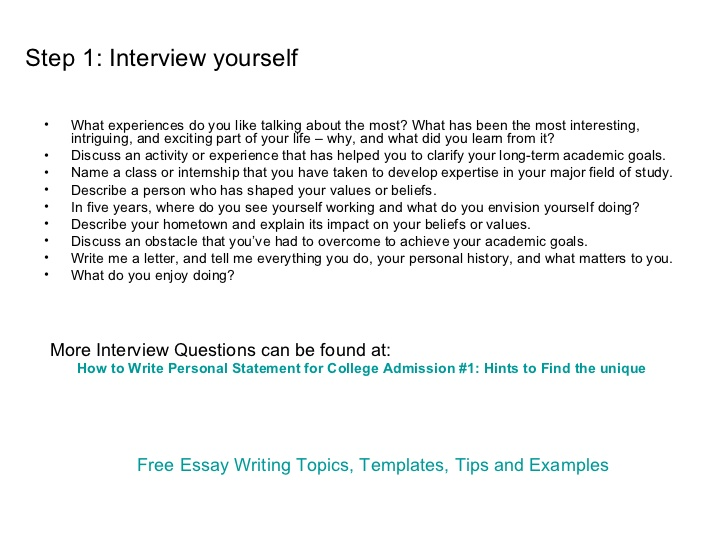 How to write a personal essay for a college application