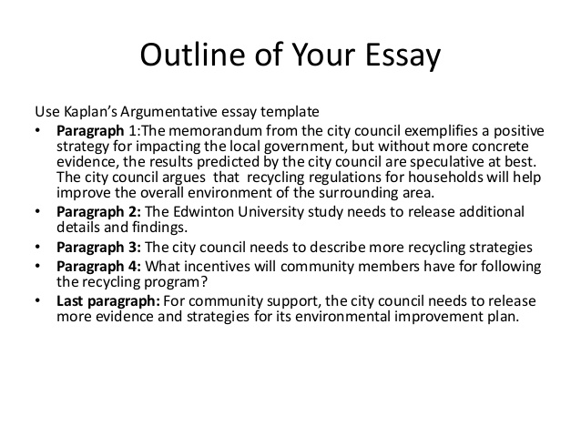 Sample outline for persuasive essay
