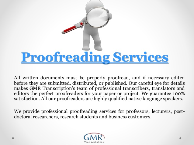 Proofreading services - College Homework Help and Online