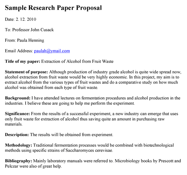 Proposal research paper - College Homework Help and Online Tutoring.