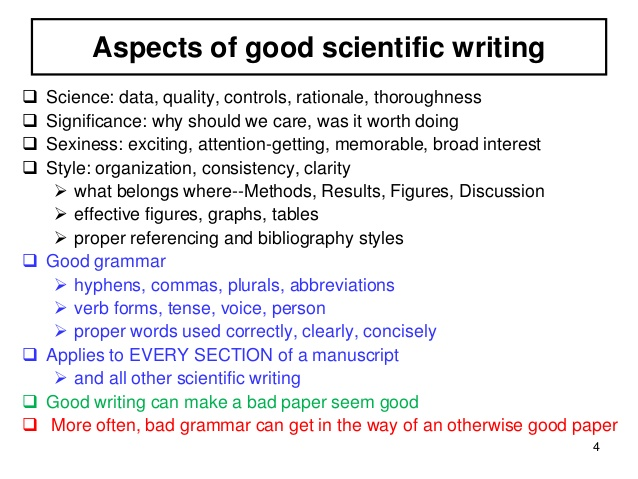 science essay writing