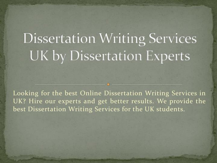 Dissertation services uk