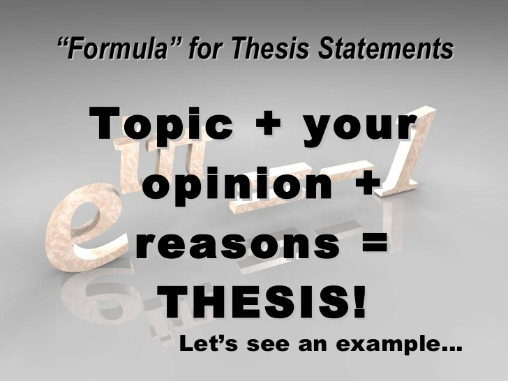 written thesis on The thesis statement is the sentence that states the main idea of a writing assignment and helps control the ideas within the paper it is not merely a topic it often reflects.