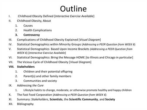 Outline for diabetes research paper