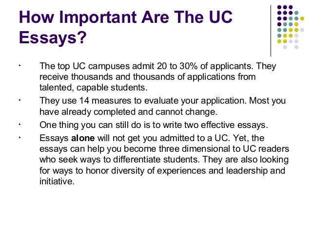 Uc College Application Essay