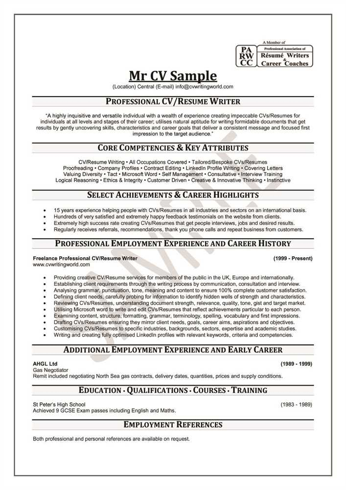 Business resume writing services ohio
