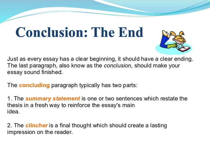 Conclusion part of a dissertation