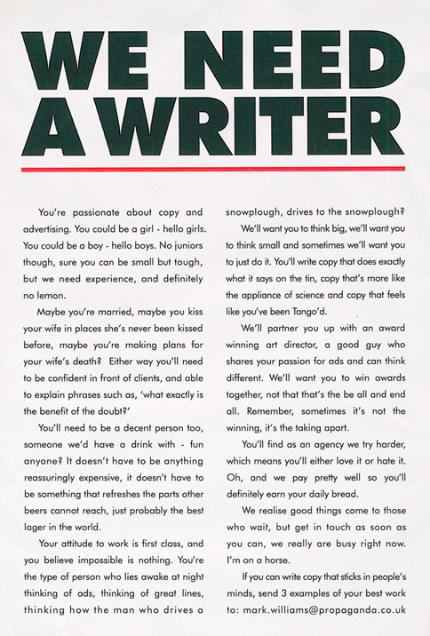 Writers wanted online