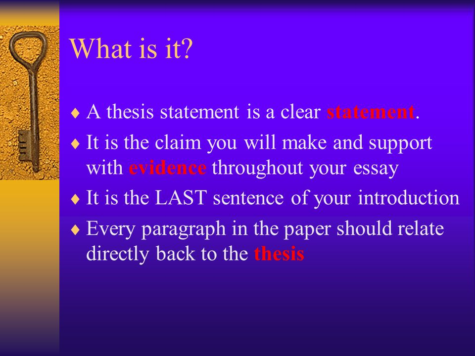 Clear thesis statement help