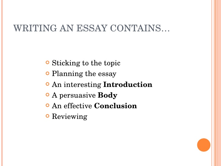 Writing a perfect essay