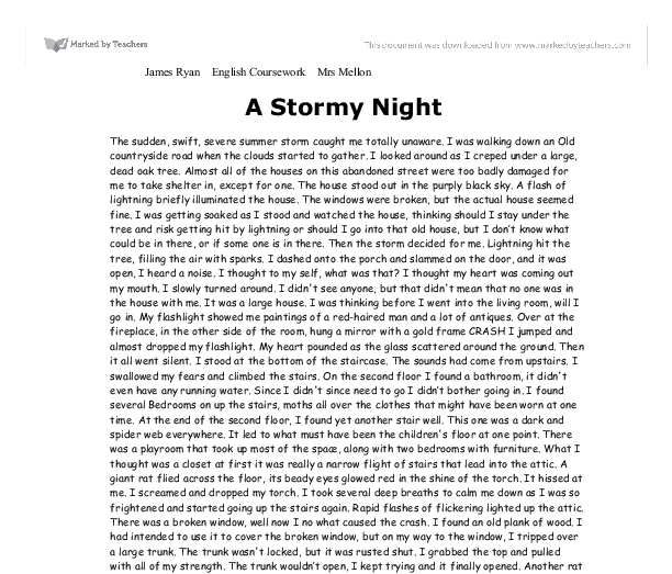 Example of narrative essay