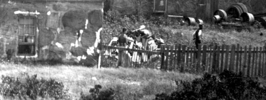 Detail from a photo of the Candle House