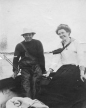 Sam Cahoon and Mrs. Harrison. (Cahoon Collection)